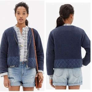 Madewell  quilted edge bomber jacket - XS